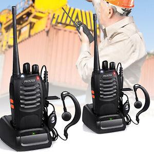 2PCS Handheld Walkie Talkies BF-888S Two Way Radio UHF 400-470MHz Long Range AU