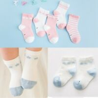 5 Pairs Baby Boy Girl Cotton Ankle Socks Newborn Infant Toddler Kids Soft warm