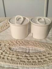 Seletti Italy Salt & Pepper Cellar Can Shakers Set, White Porcelain, NEW!