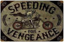 Lethal Threat Motorcycle Biker Skeleton Metal Sign Man Cave Garage Club LETH124