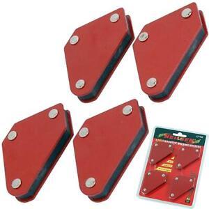 Neilsen 4pc 10lb Welding Magnet Right Angle Square Holder Soldering Durable