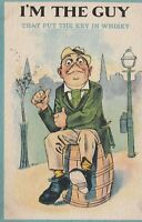 Vintage SB Cartoon Postcard - I'm the Guy That Put the Key in the Whiskey