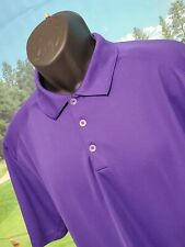 NIKE Mens Golf Polo Shirt Solid Purple Size XL