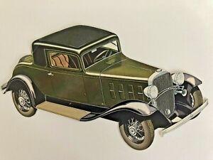 "CHEVROLET "" the standard coupe "" 1930s original DIE-CUT advertisement item/ RARE"