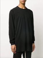 RICK OWENS DRKSHDW SPRING 2020 *NEW W TAGS* BLACK LEVEL T-SHIRT SZ SMALL
