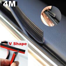 4M V Shape Seal Strip Car Windows Glass Trim Edge Moulding Rubber Weatherstrip