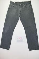 Levis 505 Boyfriend Cod. N592 tg52 W38 L34 jeans negro usado Vintage Original