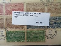 Philippines SC# 522 - 524 In Pairs First Day Cover - Z7789