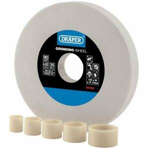Draper White Aluminium Oxide Bench Grinding Wheel 80G (150mm x 20mm)