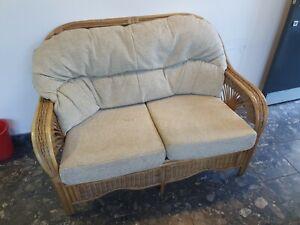 Conservatory 2 seat cane sofa