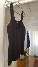 Lovely Morgan Black Strappy Top, Hip Length, Scoop Neck, Size 8/10, VGC