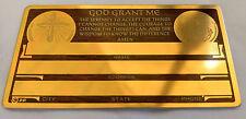 Serenity Prayer Identification Christian Metal Card Tag NOS VTG Perma Products