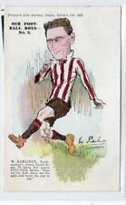 W RAWLINGS, SOUTHAMPTON: Football plain back postcard (C29851)