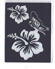Stainless/Steel/Metal/stencil/Oblong/Ornate/Flower/Floral/Lily/Butterfly/Emboss