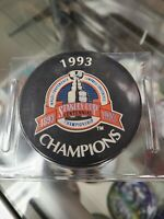 1993 Stanley Cup Champions Official Licensed NHL Logo Hockey Game Puck Brand New