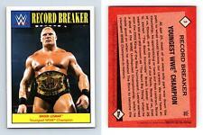 Brock Lesnar #3 WWE Heritage 2016 Topps Record Breaker Card
