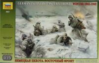 Zvezda 1:35 German Infantry Eastern Front Winter WWII Plastic Figure Kit #3627