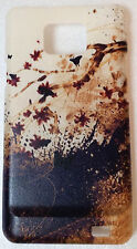 CUSTODIA COVER CASE FIORI FLOWER FARFALLE PER SAMSUNG GALAXY S2 PLUS i9105