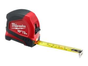 Milwaukee 48226602 LED Tape Measure 3m/10ft Blade Width 12mm
