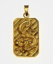24K Solid Gold Dragon Blessed Pendant 9.9 Grams