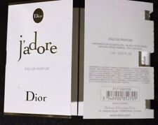 LOT OF TWO J'ADORE BY CHRISTIAN DIOR EAU DE PARFUME SPRAY .03OZ/1ML SAMPLE. NEW
