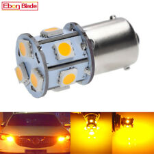 2Pcs Amber Yellow 1156 BA15S P21W 5050 SMD LED Indicator Turn Signal Light 6V DC
