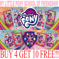 "My Little Pony School of Friendship Stickers Singles ""BUY 4 GET 10  FREE"" Panini"