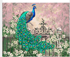 40*50CM Paint By Number Kit DIY Digital Oil Acrylic Painting on Canvas peacock