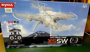 Syma FPV Real-Time X5SW 4 Channel Remote Control Quadcopter White *NEW