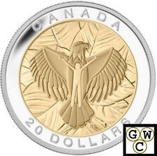 2014 Love-Seven Sacred Teachings Gold-Plated Prf $20 Silver Coin 1oz.9999(13882)