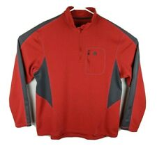 Nike Acg Mens Fleece Pullover 1/2 Half Zip Size Large L Textured FitDry Red