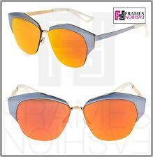 41844a3af CHRISTIAN DIOR MIRRORED Lilac Orange Metal Cat Eye Sunglasses DIORMIRRORED