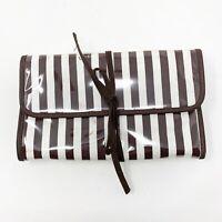 "6.25/""L, 4.5/""W Henri Bendel Striped Cloth Dust Gift Bag Brown /& White Authentic"