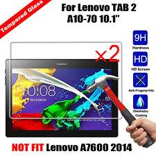 2X Premium Tempered Glass Film Screen Protector For Lenovo Tab E7 Tab E8 Tab E10