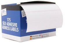 Roll of 175 Self-Adhesive Sticker Ideal for Address & Shipping Label White (D19)