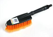 Waschbürste mit Wasserdurchlauf Autowaschbürste orange Handbürste mit Griff Auto