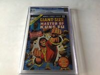 GIANT SIZE MASTER OF KUNG FU 1 CGC 8.5 WHITE PGS IRON FIST APP MARVEL COMICS B