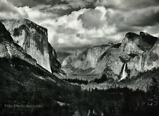 1950s Vintage ANSEL ADAMS Yosemite Valley Thunderstorm Photo Gravure Art 11x14