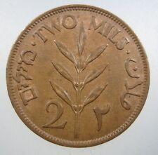 PALESTINE 5 MILS 1942 BRITISH MANDATE ISRAEL UNC 46# BANK WORLD MONEY COIN