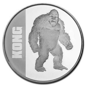 2021 Silver 1 oz $2 King Kong Coin BU