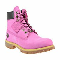 """Timberland Mens 6"""" Premium 6254A Waterproof Lace Up Casual Ibis Rose Ankle Boots"""