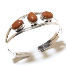 Beautiful Silver Plated Sunstone Cuff Bangel  Handmade Gemstone Jewelry