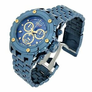 Invicta 52mm Subaqua Specialty BLUE LABEL POLISHED Swiss Chrono 500M Diver Watch