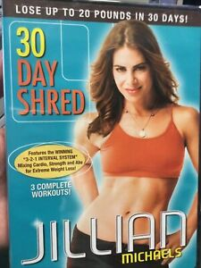 JILLIAN MICHAELS 30 Day Shred 3 Workout Video DVD LOSE 20 POUNDS New Sealed NR