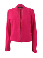 Nine West Women's Plus Size Collarless Open-Front Blazer