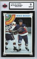 1978-79 Topps #115 Mike Bossy RC Graded 9.0 Mint (100519-39)