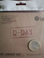 2019 D-DAY THE LONGEST DAY £2 POUND COIN BU ROYAL MINT SEALED PACK UNC