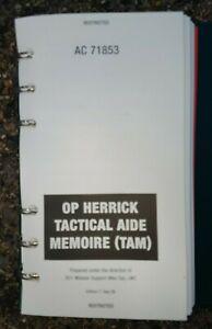 OP HERRICK 2009 BRITISH ARMY TACTICAL AIDE MEMOIRE