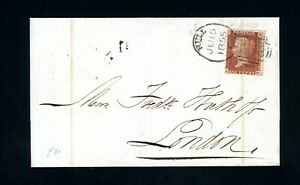 Hull Spoon 1855  Code F Cover to London  (File Fold)     (O524)