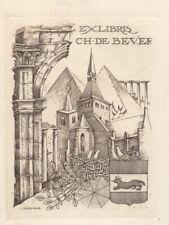Ex Libris Hubert Levigne : C.H. de Bever